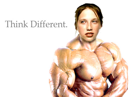 Ellen Feiss + a Muscle and Fitness photo + stupid non sequitur humor = this horror