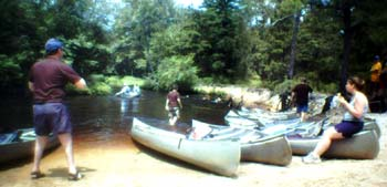 Photo of a stop on the canoe trip.